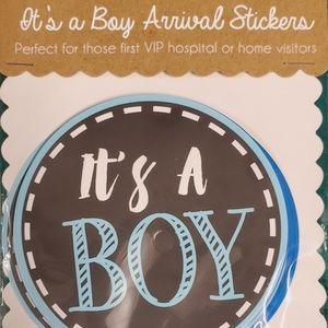 New Baby Boy Stickers